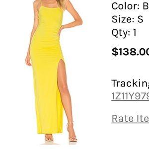 Yellow maxi body on dress